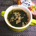 忙しい朝にレンジで簡単♪焼きあごだしつゆで絶品わかめスープ