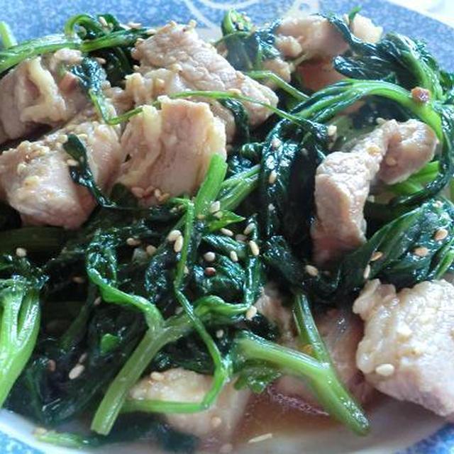 セロリの葉と豚肉の味噌炒め たんぱく質が豊富な豚肉と料理 翌日のお肌の調子に期待!
