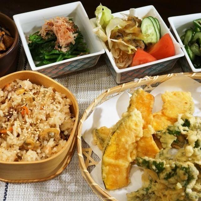 ■晩ご飯セット【②全貌編で ホタルイカと浅利の炊き込みご飯他です♪】