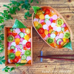 今話題!行楽弁当にもぴったり「#水玉ちらし寿司」は簡単カワイイ♪