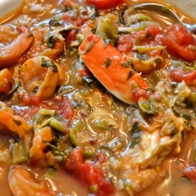 ルイジアナ料理の定番 シーフードガンボー