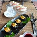 和イタリアン パルミジャーノで愉しむ鯛寿司と、雲丹軍艦巻
