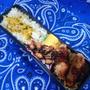 豚肉と山芋のオイスター炒めと旦那さん弁当