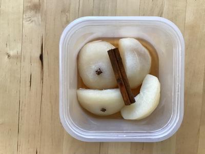 【レシピブログ】和梨の白ワイン煮 × 日本の白ワイン