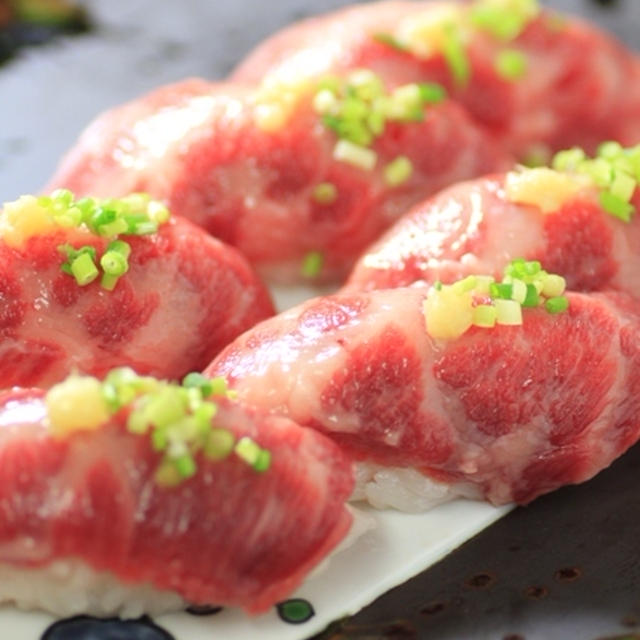 馬刺しの握り寿司