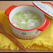 卵白消費!豆腐と長ネギの中華風とろみスープ