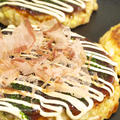 【鉄板焼き】つくれぽ1000感謝!「春キャベツと長芋で☆簡単お好み焼き」の晩ごはん。