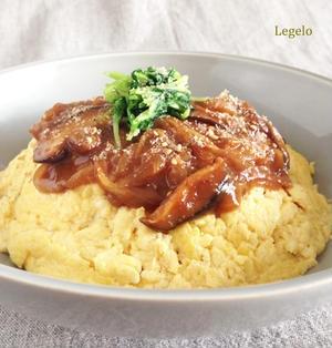 豆腐でふんわり卵の オムライス 味噌 ソース ☆濃厚でおいしいよ♪
