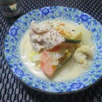 オレガノ香る♪ 豚肉と色々野菜のミルク味噌煮