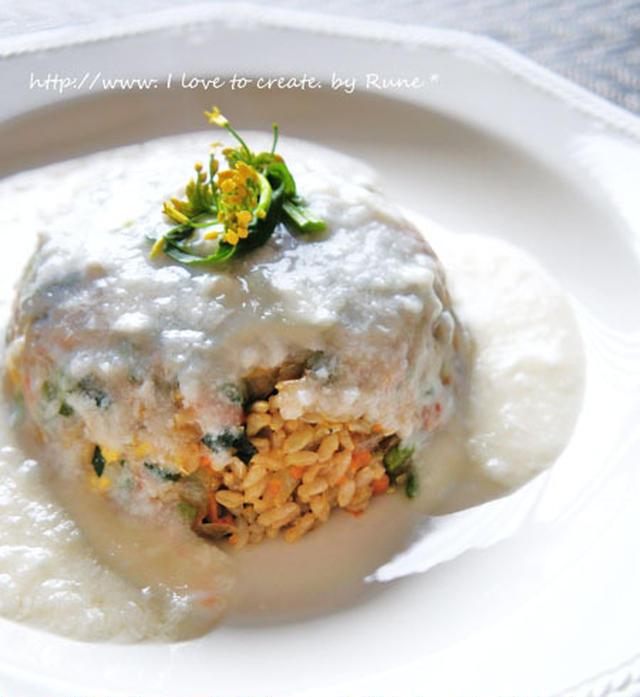 塩麹雪泡の小松菜しらすチャーハン