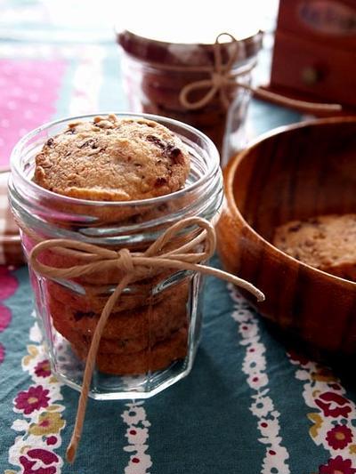 玄米粉でさくっと・・小豆クッキー♪