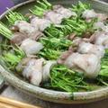 レンチン4分☆ ポン酢で美味~♪ 豆苗ときのこの豚バラ巻き蒸し by 花ぴーさん