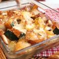 鶏胸肉とカボチャの甘辛チーズ焼き