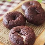 チョコミント味♪ ココアマシュマロクッキー