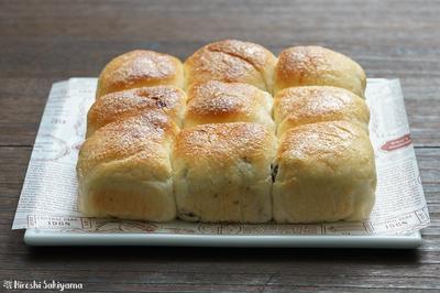 シュガーレーズンとキャラメルバナナのちぎりパンのレシピ