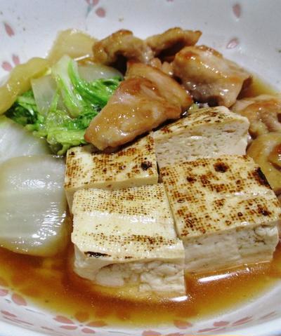 鶏もも肉と焼き豆腐のうま煮<白菜の甘みも♪>