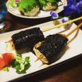 ボリュームUP☆鶏胸肉とおからのつくね磯辺風かば焼き