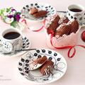 バレンタインに♡ 卵1個♡混ぜて焼くだけ♡チョコレート マドレーヌ♡