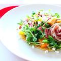 生ハムと柿のサラダ もちもちパンケーキ☆作り方・レシピ動画☆ by 和田 良美さん