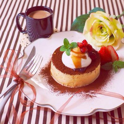 ティラミス風スフレパンケーキ