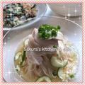 韓国冷麺がなくても!食べたい時に素麺で蒸し鶏冷麺 〜 大好きなニラチヂミと 〜