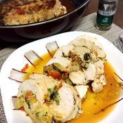 鶏胸肉の野菜チーズ詰め