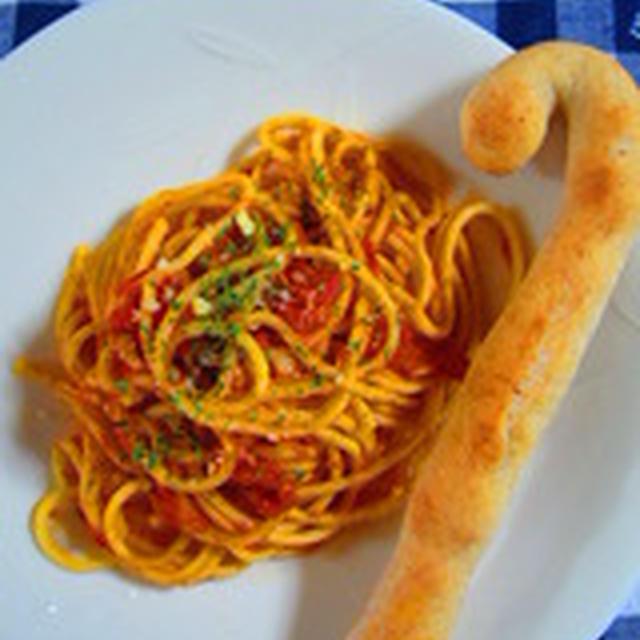 「ほくほく大蒜のトマトパスタ」