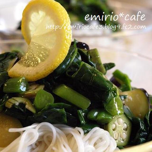 ねばねば野菜素麺