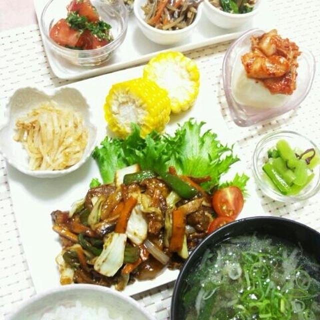 *晩ごはん*~野菜たっぷり ☆ 回鍋肉~