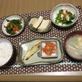 ホッケの西京漬け焼きメインの晩御飯♪