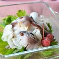 花椒入りカブの甘酢漬けとしめ鯖の和え物♪