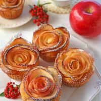 バター不使用りんごとヨーグルトのヘルシーローズケーキ♪cotta