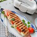 朝ごはんアンバサダー 鯛お好み焼き と モッツアレラ&トマト&ベーコンのパニーニ by 青山 金魚さん