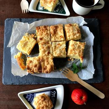 【簡単!!トースターでお菓子】レンジ&トースターで*サクサク!りんごのクランブルケーキ