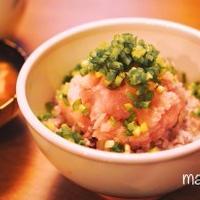 [レシピ]安心無添加♪ヘルシーマグロのたたき丼(ネギトロ丼)