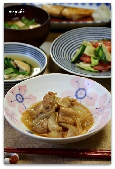 とろとろたまねぎと鶏肉のスタミナ煮。和食ごはん。
