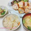 タケノコご飯+コルドン・ブルー(鶏胸肉のチーズはさみカツレツ) #StayHome #お家ごはん