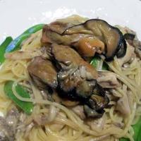 牡蠣の燻製パスタ