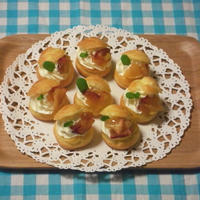 バターカラメルりんごとヨーグルトいっぱいのシュークリーム★プレゼントありがとうございます