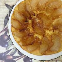フライパンで簡単秋のデザート!梨ケーキの作り方