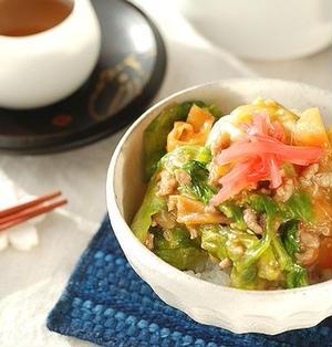 【春キャベツを使い切り♡】食材3つの激うまキャベツ丼