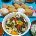 酢ばす入り稲荷寿司と焼き野菜のゴマドレサラダ♪♪