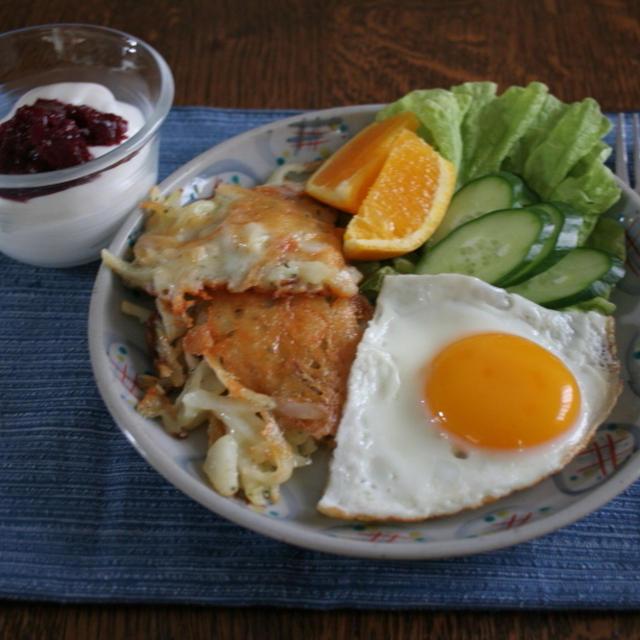 ジャガイモのチーズガレットで朝ごはん