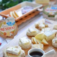 ライ麦パンとフルーツで楽しむプレジデントカマンベールのナチュラルパーティー☆