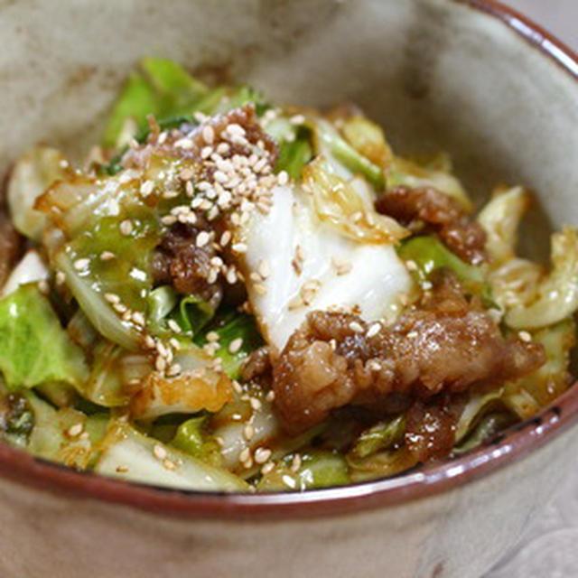 365日米レシピNo.119「豚キャベツ丼」