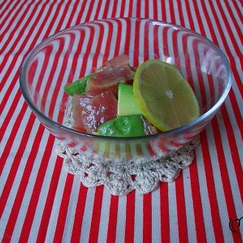 マグロとアボカドのサラダ