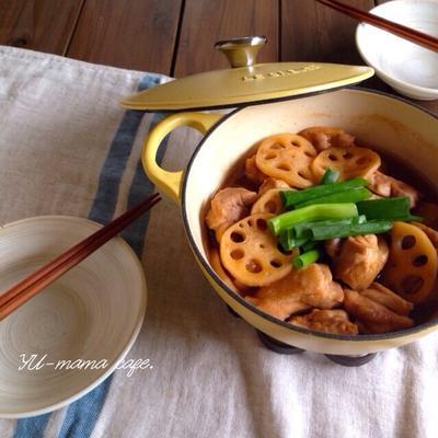 お鍋ひとつで簡単ホロホロ♡鶏肉とれんこんのさっぱり甘辛煮。マフィンのご質問A