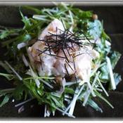 豆腐のサラダ 梅しょうがドレッシング