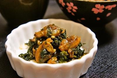 作り置きで便利!ご飯が進むアサリと大根の葉の佃煮