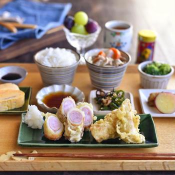 天ぷらの朝ごはんと✽ お料理は思い出とともに。
